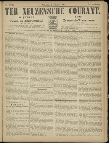 Ter Neuzensche Courant. Algemeen Nieuws- en Advertentieblad voor Zeeuwsch-Vlaanderen / Neuzensche Courant ... (idem) / (Algemeen) nieuws en advertentieblad voor Zeeuwsch-Vlaanderen 1884-10-04