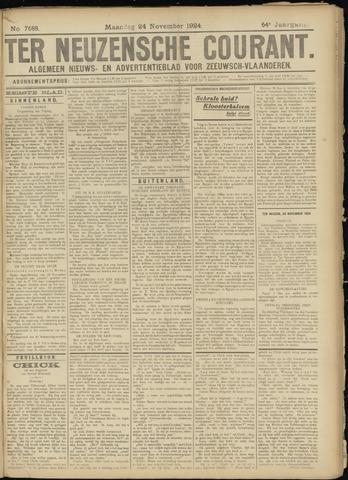Ter Neuzensche Courant. Algemeen Nieuws- en Advertentieblad voor Zeeuwsch-Vlaanderen / Neuzensche Courant ... (idem) / (Algemeen) nieuws en advertentieblad voor Zeeuwsch-Vlaanderen 1924-11-24