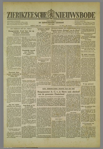 Zierikzeesche Nieuwsbode 1952-04-01