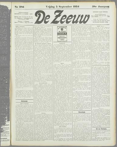 De Zeeuw. Christelijk-historisch nieuwsblad voor Zeeland 1924-09-05