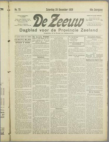 De Zeeuw. Christelijk-historisch nieuwsblad voor Zeeland 1929-12-28