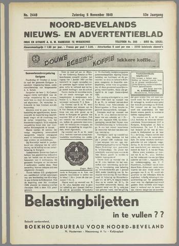 Noord-Bevelands Nieuws- en advertentieblad 1949-11-05