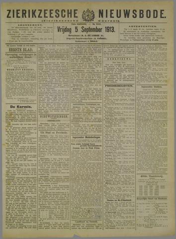 Zierikzeesche Nieuwsbode 1913-09-05