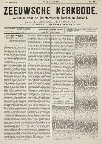 Zeeuwsche kerkbode, weekblad gewijd aan de belangen der gereformeerde kerken/ Zeeuwsch kerkblad 1924-06-13