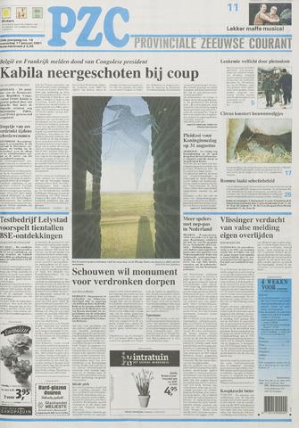 Provinciale Zeeuwse Courant 2001-01-17