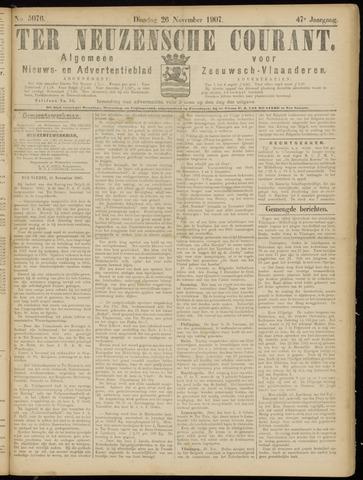 Ter Neuzensche Courant. Algemeen Nieuws- en Advertentieblad voor Zeeuwsch-Vlaanderen / Neuzensche Courant ... (idem) / (Algemeen) nieuws en advertentieblad voor Zeeuwsch-Vlaanderen 1907-11-26