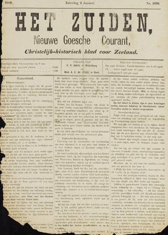 Het Zuiden, Christelijk-historisch blad 1886-01-02