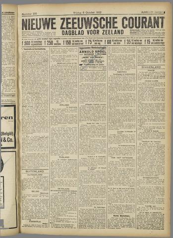Nieuwe Zeeuwsche Courant 1922-10-06
