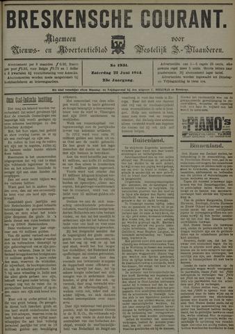 Breskensche Courant 1914-06-27