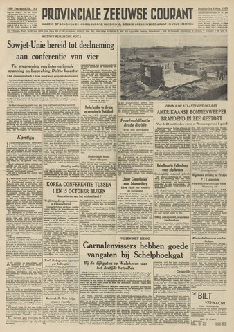 Provinciale Zeeuwse Courant 1953-08-06