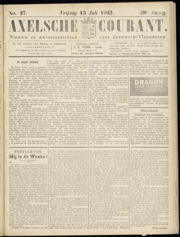 Axelsche Courant 1923-07-13