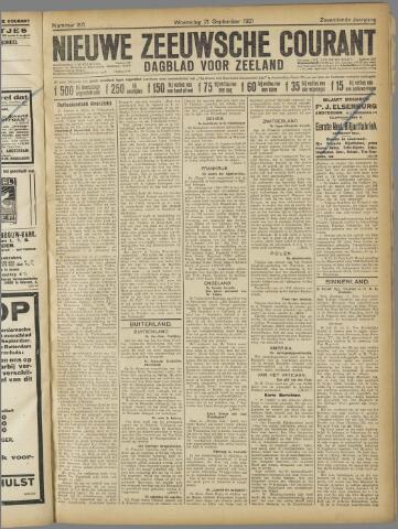 Nieuwe Zeeuwsche Courant 1921-09-21