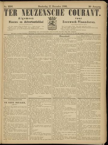 Ter Neuzensche Courant. Algemeen Nieuws- en Advertentieblad voor Zeeuwsch-Vlaanderen / Neuzensche Courant ... (idem) / (Algemeen) nieuws en advertentieblad voor Zeeuwsch-Vlaanderen 1896-12-17