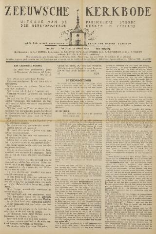 Zeeuwsche kerkbode, weekblad gewijd aan de belangen der gereformeerde kerken/ Zeeuwsch kerkblad 1946-04-12