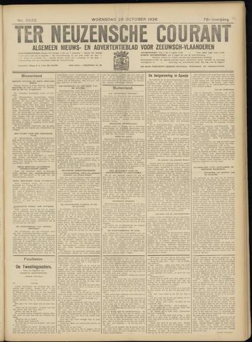 Ter Neuzensche Courant. Algemeen Nieuws- en Advertentieblad voor Zeeuwsch-Vlaanderen / Neuzensche Courant ... (idem) / (Algemeen) nieuws en advertentieblad voor Zeeuwsch-Vlaanderen 1936-10-28