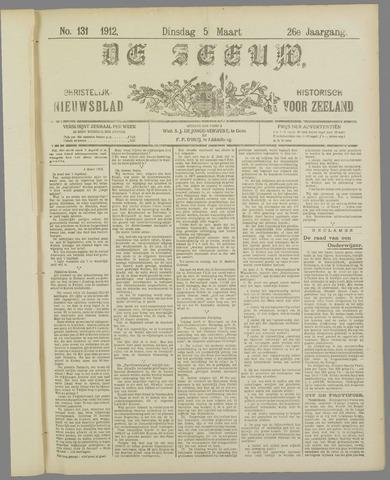 De Zeeuw. Christelijk-historisch nieuwsblad voor Zeeland 1912-03-05