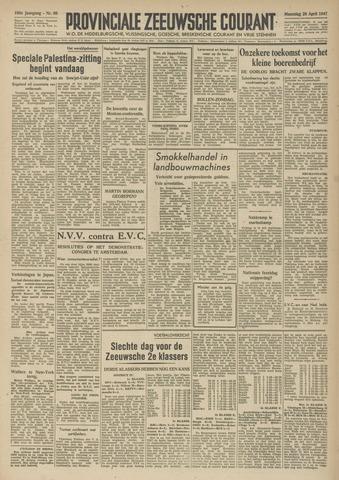 Provinciale Zeeuwse Courant 1947-04-28