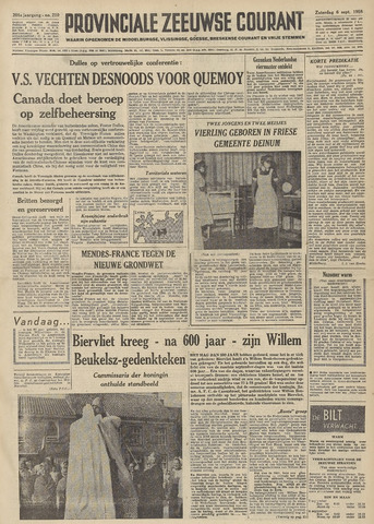 Provinciale Zeeuwse Courant 1958-09-06