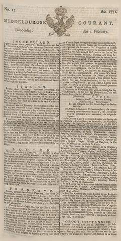 Middelburgsche Courant 1771-02-07