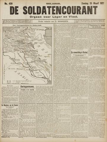 De Soldatencourant. Orgaan voor Leger en Vloot 1917-03-25