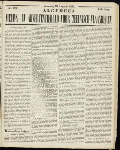 Ter Neuzensche Courant. Algemeen Nieuws- en Advertentieblad voor Zeeuwsch-Vlaanderen / Neuzensche Courant ... (idem) / (Algemeen) nieuws en advertentieblad voor Zeeuwsch-Vlaanderen 1875-08-18