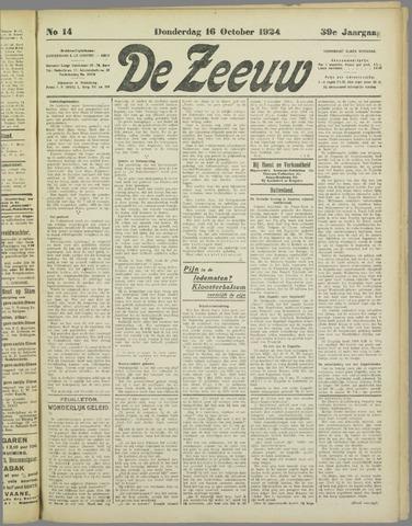 De Zeeuw. Christelijk-historisch nieuwsblad voor Zeeland 1924-10-16