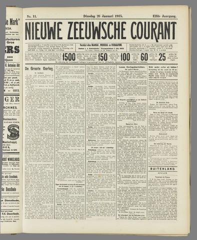 Nieuwe Zeeuwsche Courant 1915-01-26