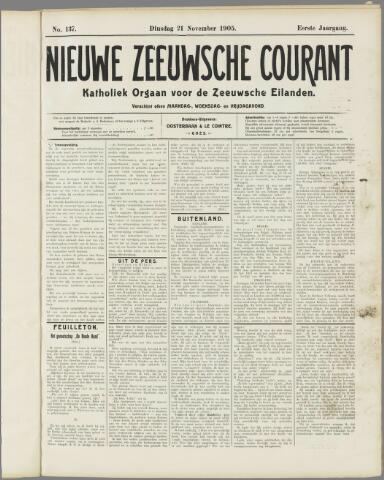 Nieuwe Zeeuwsche Courant 1905-11-21