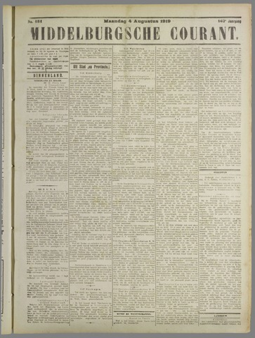 Middelburgsche Courant 1919-08-04