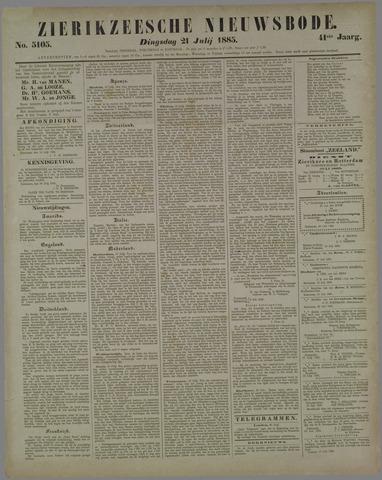 Zierikzeesche Nieuwsbode 1885-07-21