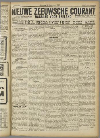 Nieuwe Zeeuwsche Courant 1922-09-12