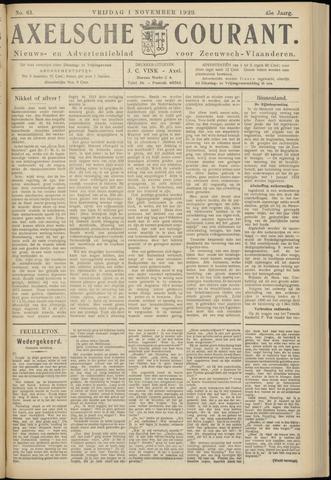 Axelsche Courant 1929-11-01