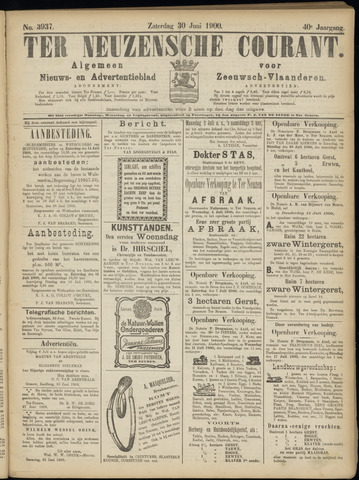 Ter Neuzensche Courant. Algemeen Nieuws- en Advertentieblad voor Zeeuwsch-Vlaanderen / Neuzensche Courant ... (idem) / (Algemeen) nieuws en advertentieblad voor Zeeuwsch-Vlaanderen 1900-06-30