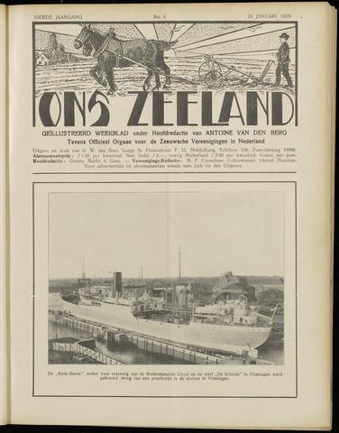 Ons Zeeland / Zeeuwsche editie 1929-01-26
