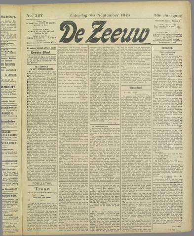 De Zeeuw. Christelijk-historisch nieuwsblad voor Zeeland 1919-09-20