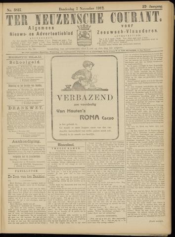 Ter Neuzensche Courant. Algemeen Nieuws- en Advertentieblad voor Zeeuwsch-Vlaanderen / Neuzensche Courant ... (idem) / (Algemeen) nieuws en advertentieblad voor Zeeuwsch-Vlaanderen 1912-11-07
