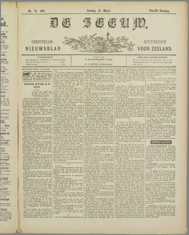 De Zeeuw. Christelijk-historisch nieuwsblad voor Zeeland 1898-03-12