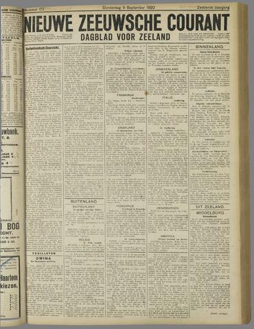 Nieuwe Zeeuwsche Courant 1920-09-09