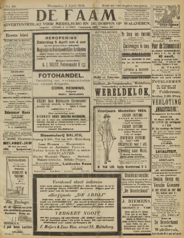 de Faam en de Faam/de Vlissinger 1924-04-02