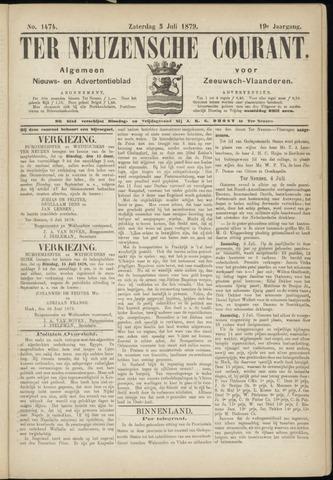 Ter Neuzensche Courant. Algemeen Nieuws- en Advertentieblad voor Zeeuwsch-Vlaanderen / Neuzensche Courant ... (idem) / (Algemeen) nieuws en advertentieblad voor Zeeuwsch-Vlaanderen 1879-07-05