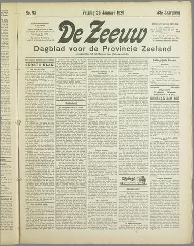 De Zeeuw. Christelijk-historisch nieuwsblad voor Zeeland 1929-01-25