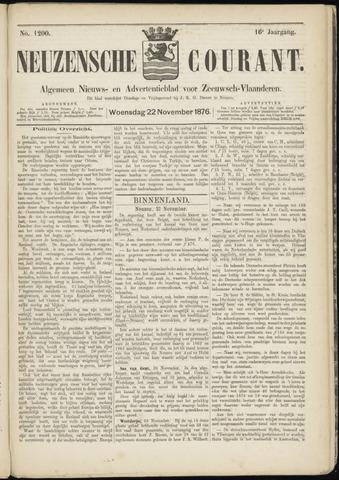 Ter Neuzensche Courant. Algemeen Nieuws- en Advertentieblad voor Zeeuwsch-Vlaanderen / Neuzensche Courant ... (idem) / (Algemeen) nieuws en advertentieblad voor Zeeuwsch-Vlaanderen 1876-11-22