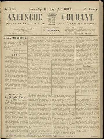 Axelsche Courant 1892-08-10