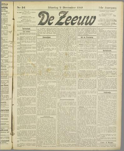 De Zeeuw. Christelijk-historisch nieuwsblad voor Zeeland 1919-12-02