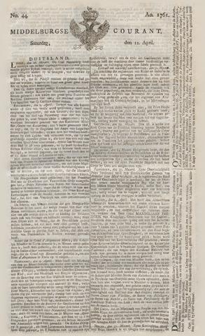 Middelburgsche Courant 1761-04-11