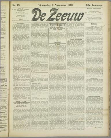 De Zeeuw. Christelijk-historisch nieuwsblad voor Zeeland 1921-11-02