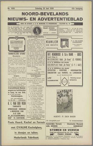Noord-Bevelands Nieuws- en advertentieblad 1936-06-20