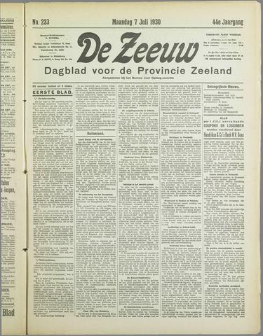De Zeeuw. Christelijk-historisch nieuwsblad voor Zeeland 1930-07-07