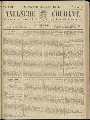 Axelsche Courant 1892-11-26