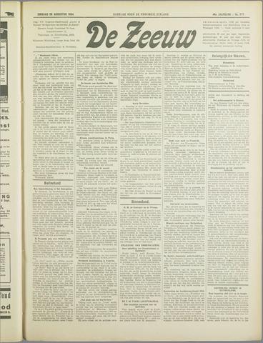 De Zeeuw. Christelijk-historisch nieuwsblad voor Zeeland 1934-08-28